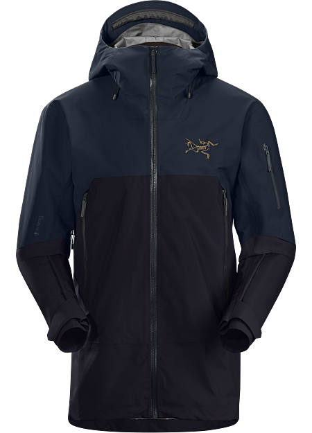 Arc'teryx Men's Rush Jacket ReBird, Black/kingfisher, Size M