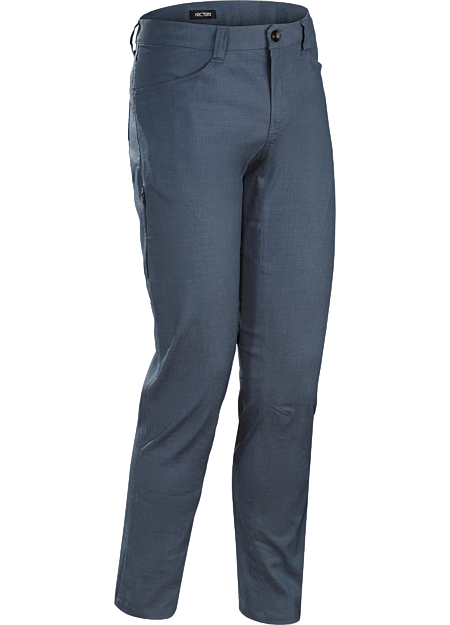 Trim-fitting pants easily transition from the urban bike commute to daily living.