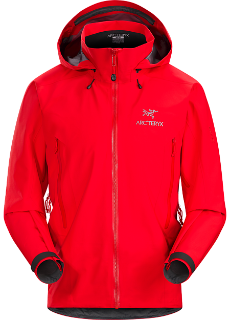 Lightweight & packable, waterproof GORE-TEX® Pro jacket;  hip length with a helmet compatible DropHood™. Beta Series: All-round mountain apparel | AR: All-Round.