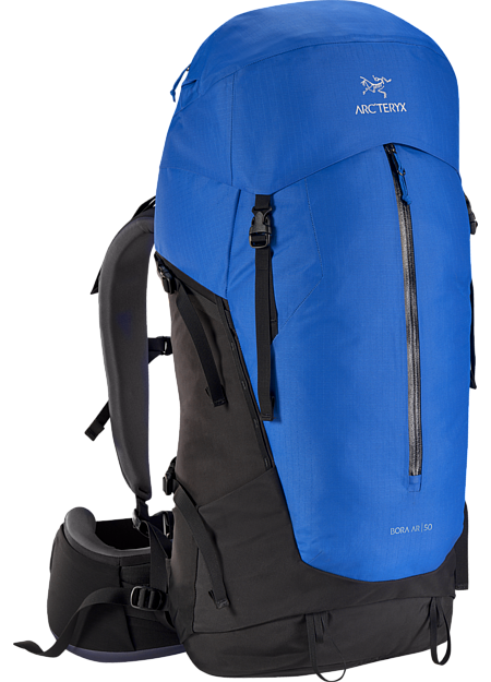 Men's backpack with zonal weather protection and RotoGlide™ hipbelt.