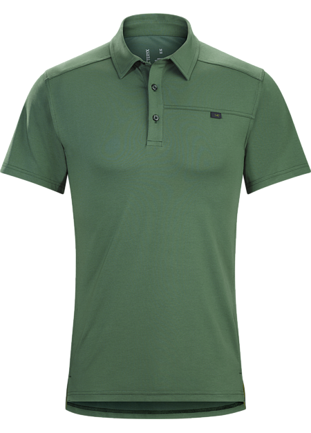 Lightweight, moisture wicking DryTech™ polo shirt for active travel and uptempo urban pursuits.