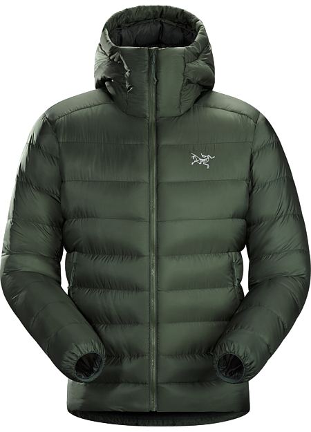 Lightweight, warm 850-fill down hoody performs as a midlayer or standalone. Down Series: Down insulated garments | SV: Severe Weather.
