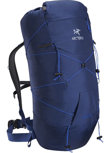 Superlight 28L pack for summit blitzes, approaches, alpine and rock climbing.