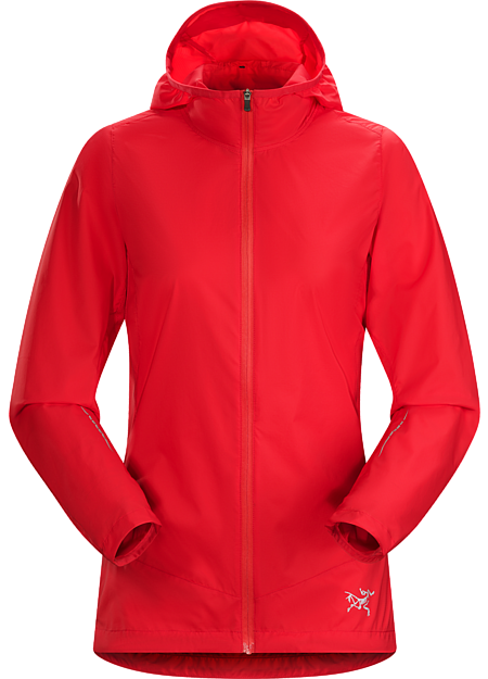 Lightweight, stowable minimalist hoody for high output mountain training in light precipitation and cool, windy conditions.