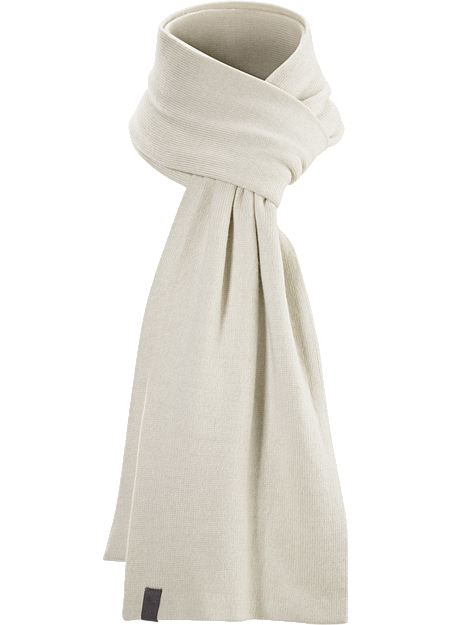 Warm merino wool scarf with a clean, minimal, refined style.