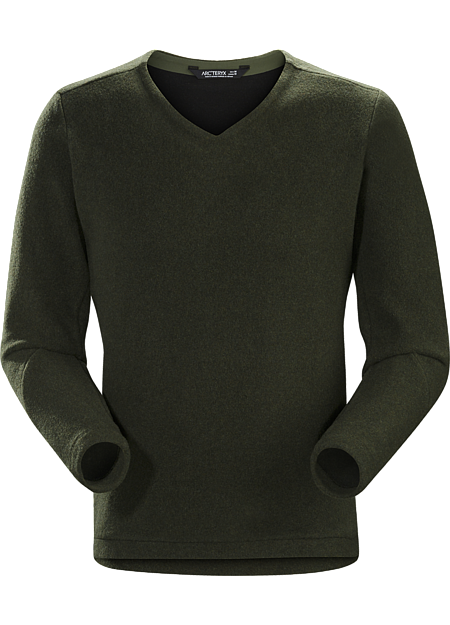 Donavan V-Neck Sweater Men's Dark Moss Heather