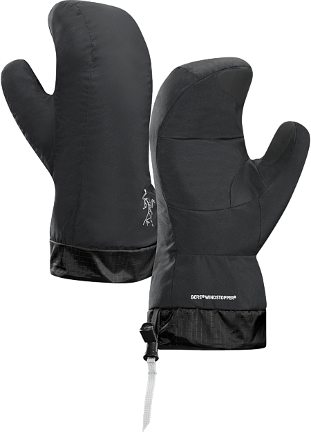 Highly compressible, lightweight, very warm, windproof down mitten for use as a liner or lightweight camp or emergency handwear.