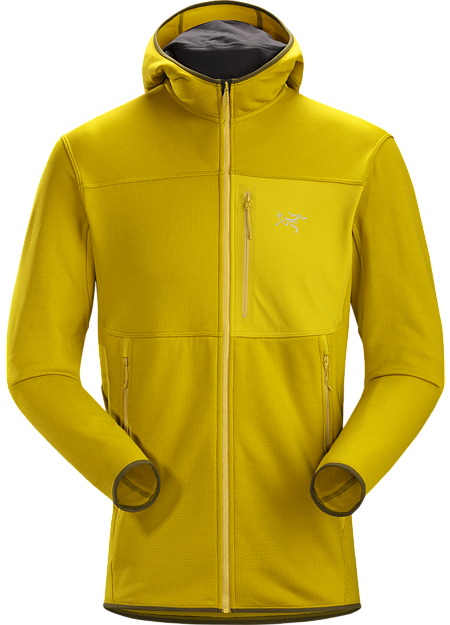Durable midweight fleece hoody performs as a layering piece or standalone.