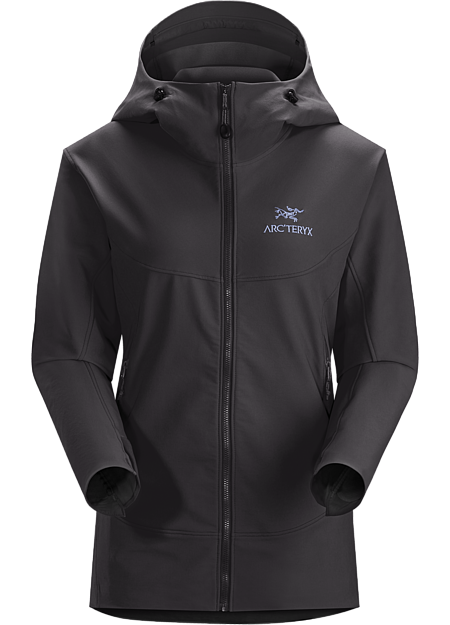 Light, durable, versatile women's softshell hoody offering wind and weather protection, air permeable comfort and freedom of movement. Gamma Series: Softshell outerwear with stretch | LT: Lightweight.