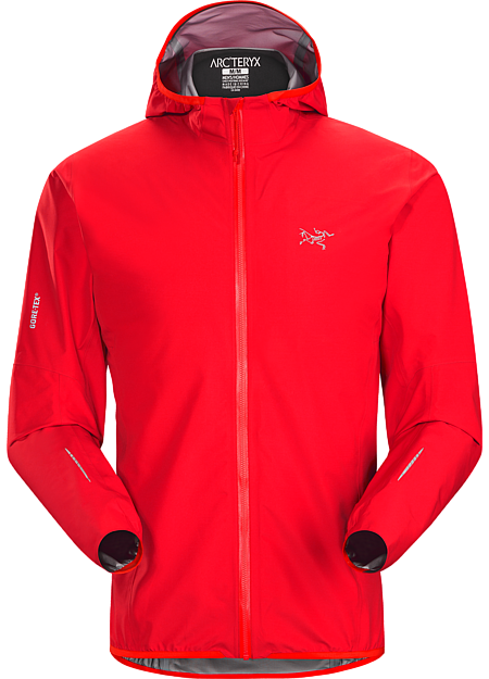 Ultra minimalist waterproof breathable GORE-TEX® protection for high output activities in wet, windy weather.