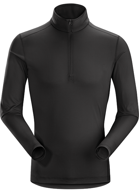 Silkweight Phasic™ zip-neck baselayer for high output in cooler temperatures. Phase Series: Moisture wicking base layer | SL: Superlight.