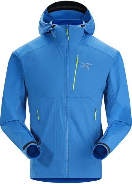 Light, hardwearing hybrid construction hooded softshell with a precision fit. Purpose built for rock and alpine climbing.