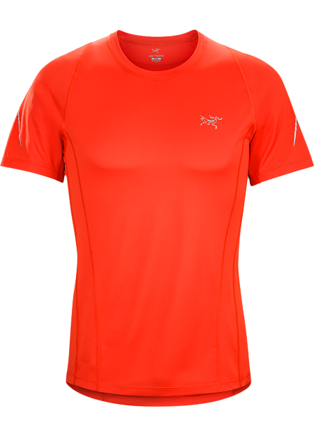 Ultra lightweight, highly air permeable performance mesh shirt for race level runs and high output mountain training.