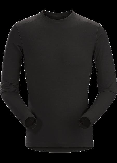 Satoro AR Crew Neck Shirt LS Men's Black