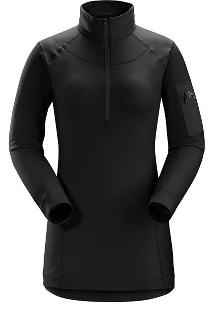 Satoro SV Zip Neck LS Women's Black