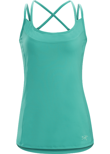 Trim fit, quick drying women's tank top with comfort straps and a built-in shelf bra. Designed for hiking and daily adventure.