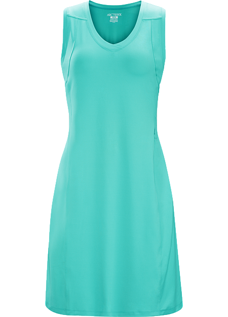 Casual, comfortable, lightweight Haven™ stretch polyester dress for travel and warm weather activities.