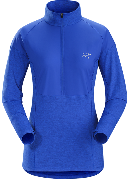 Zip-neck with light overlay for added weather protection.