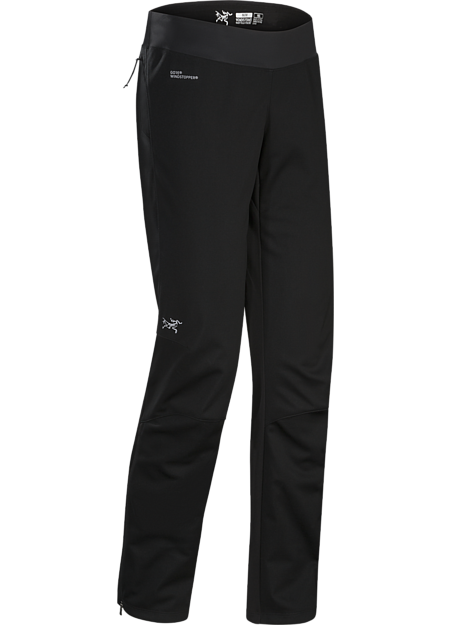 GORE® WINDSTOPPER® mountain training tight for windy, cool, damp conditions.