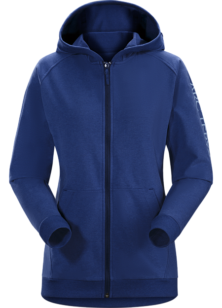 Word On End Full-Zip Hoody Women's Mystic Heather
