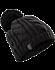 Cable Pom Pom Hat  Black/Black
