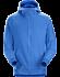 Word On End Full-Zip Hoody Men's Deja Blue Heather