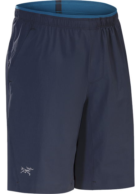 Durable trail running short with four-way stretch.
