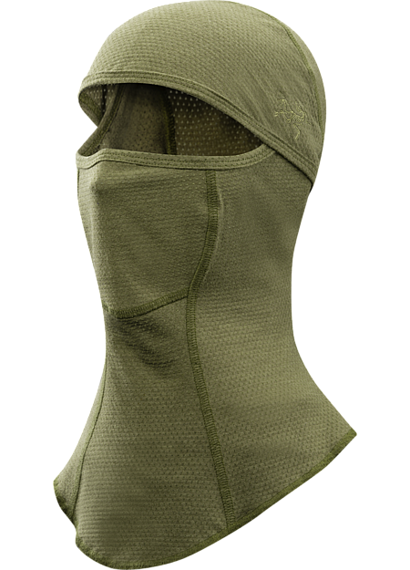 A flame resistant balaclava that is worn when conducting Direct Action tasks that will provide user protection from flame/incendiaries.