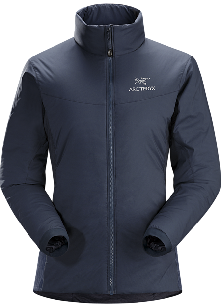 Insulated, mid layer jacket with wind and moisture resistant outer face fabric; ideal as a layering piece for cold weather activities. Atom Series: Synthetic insulated mid layers | LT: Lightweight.