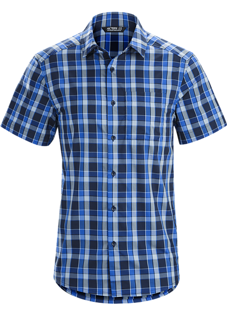 Light, comfortable button front plaid for casual summer days and warm weather travel.