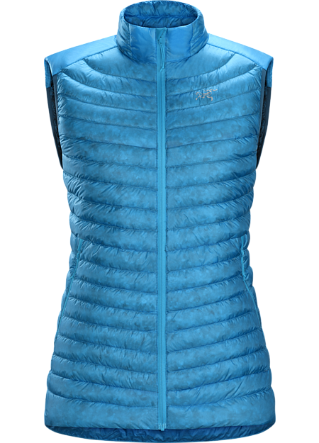 Superlight, highly packable down vest performs as a mid layer or standalone piece. Down Series: Down insulated garments | SL: Superlight.