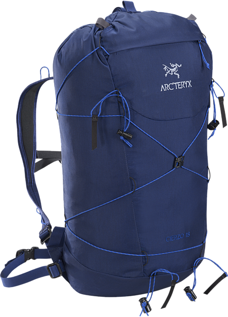 Superlight 18L summit pack for multi-pitch rock, alpine and ice climbing routes.