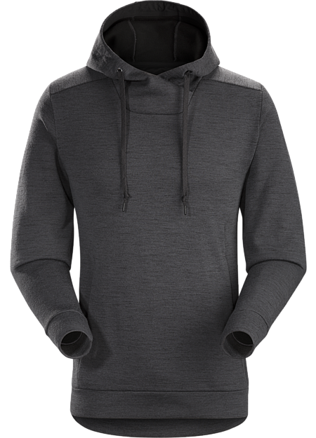 Classic hoody style with a Merino blend fabric and refined urban aesthetic.