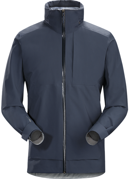 Light, comfortable GORE-TEX shell delivers waterproof, windproof, breathable weather protection with urban style.