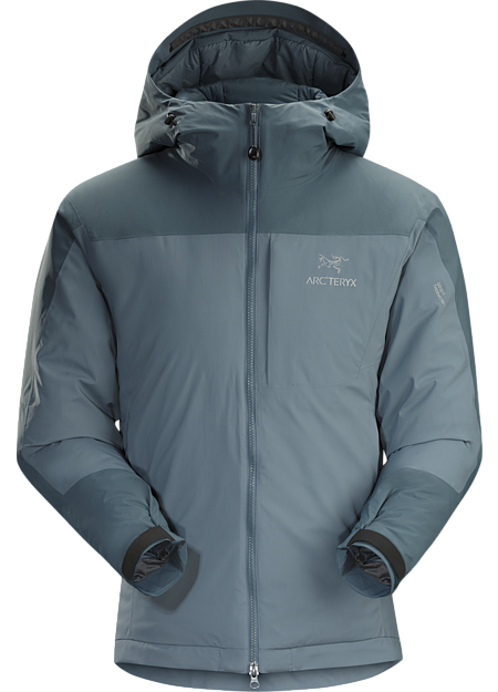 Coreloft™ insulated hoody with windproof, water-resistant GORE THERMIUM™ shell. Kappa Series: Insulated windproof outerwear.