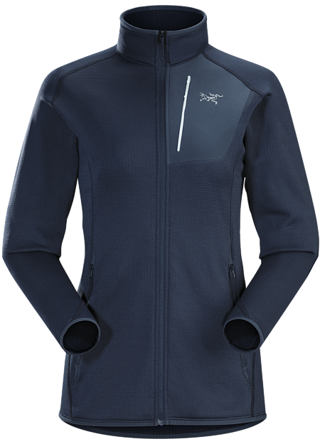 Versatile, trim fitting Polartec® Power Dry® jacket.