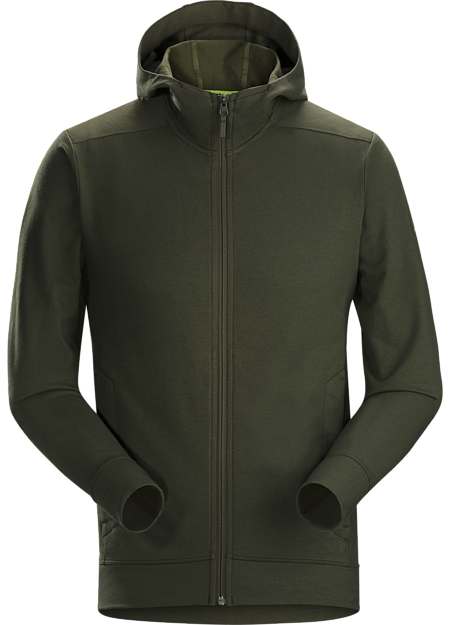 Classic full-zip hoody made from a cotton blend performance fabric.