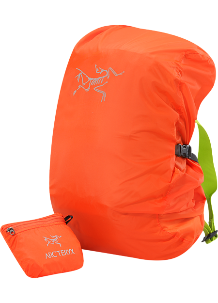 Lightweight and packable pack cover; Fits most packs up to 30L