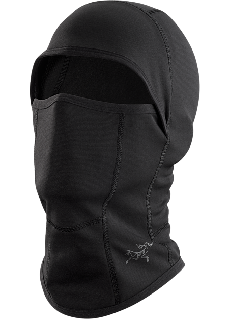 Full face coverage balaclava constructed with breathable, moisture-wicking Phase™ base layer textile. Phase Series: Moisture wicking base layer | AR: All Round.