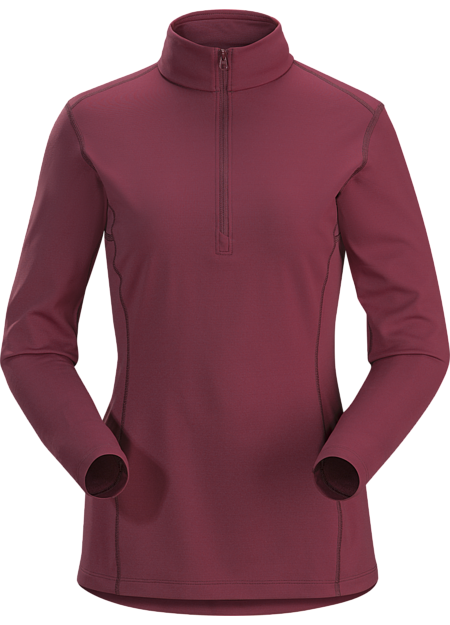 Phase AR Zip Neck LS Women's Light Merbau