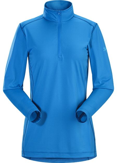Silkweight Phasic™ zip-neck base layer for high output in cooler temperatures. Phase Series: Moisture wicking base layer | SL: Superlight.