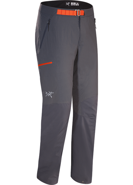 Durable hybrid softshell pant for fast and light alpine climbing.