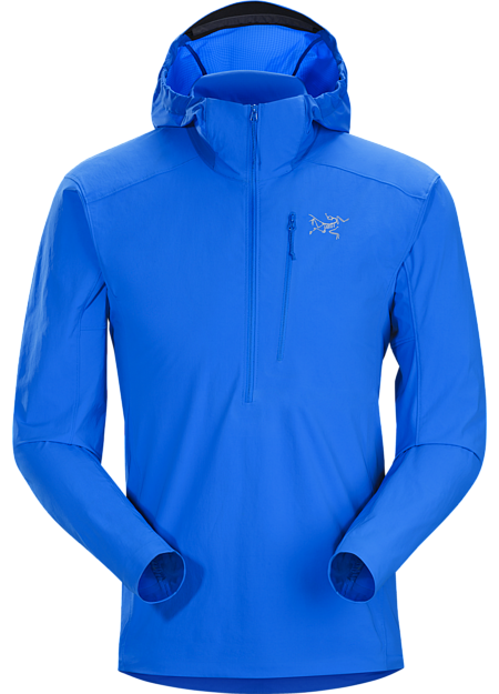 Versatile, superlight, compact, abrasion resistant softshell pullover for essential protection in alpine and rock environments.