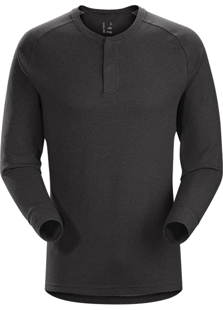Sirrus Henley LS Men's Black Heather