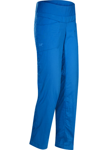 Lightweight, air permeable linen pant provides cool comfort and sun protection in hot weather.
