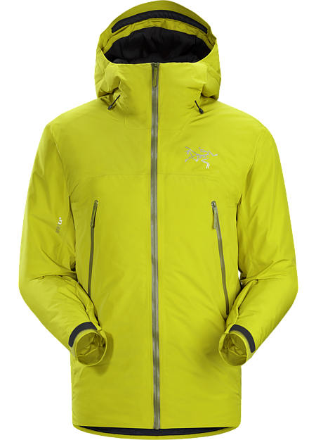 Lightweight, insulated GORE-TEX jacket for backcountry rest phases and descents.