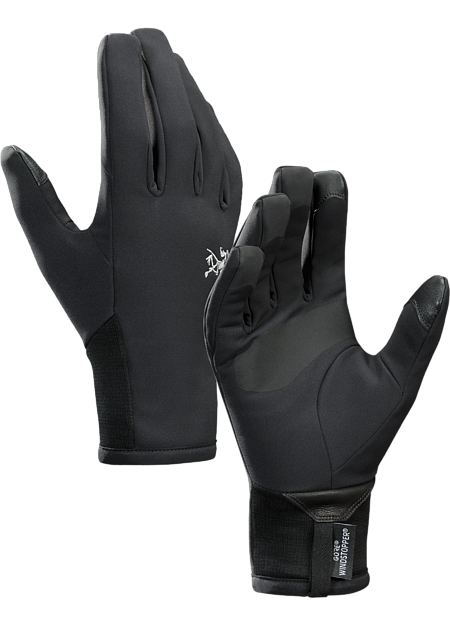 Windproof, warm, breathable, highly weather resistant WINDSTOPPER® gloves for high output activities in cold weather. Venta Series: Weather resistant softshell garments | LT: Lightweight.