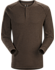 Sirrus Henley LS Men's Carob Heather