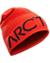 Word Head Long Toque  Hard Coral/Crimson