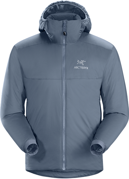 This versatile Coreloft™ insulated hoody functions as an outer layer in cold, dry conditions or as a mid layer in cold, wet conditions. Atom Series: Synthetic insulated mid layers | AR: All Round.